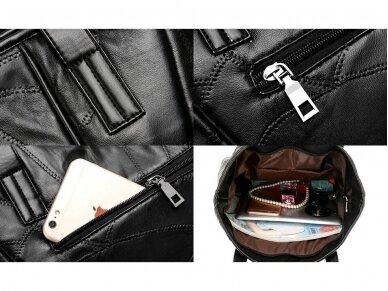 Krepšys juodos odos BOHO 5