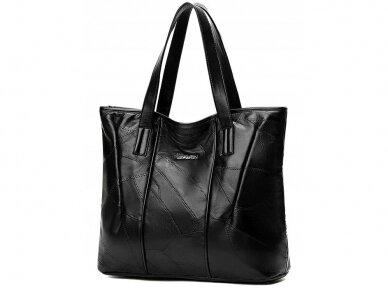 Krepšys juodos odos BOHO 3