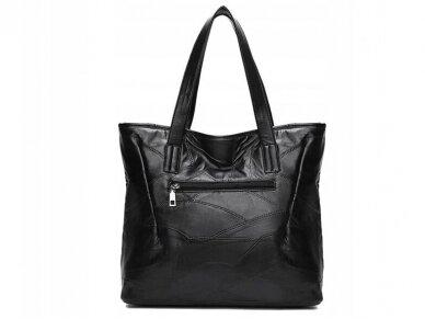 Krepšys juodos odos BOHO 2