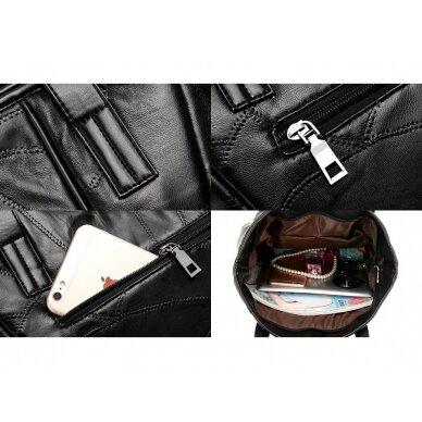 Melna ādas soma BOHO 5
