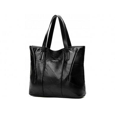 Melna ādas soma BOHO 3