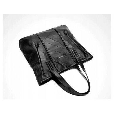 Melna ādas soma BOHO 6