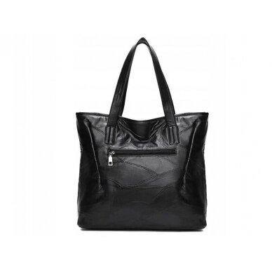 Melna ādas soma BOHO 2
